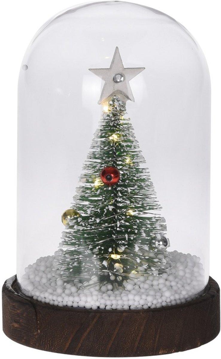 Kerstversiering kerstboom in stolp 17 cm kopen