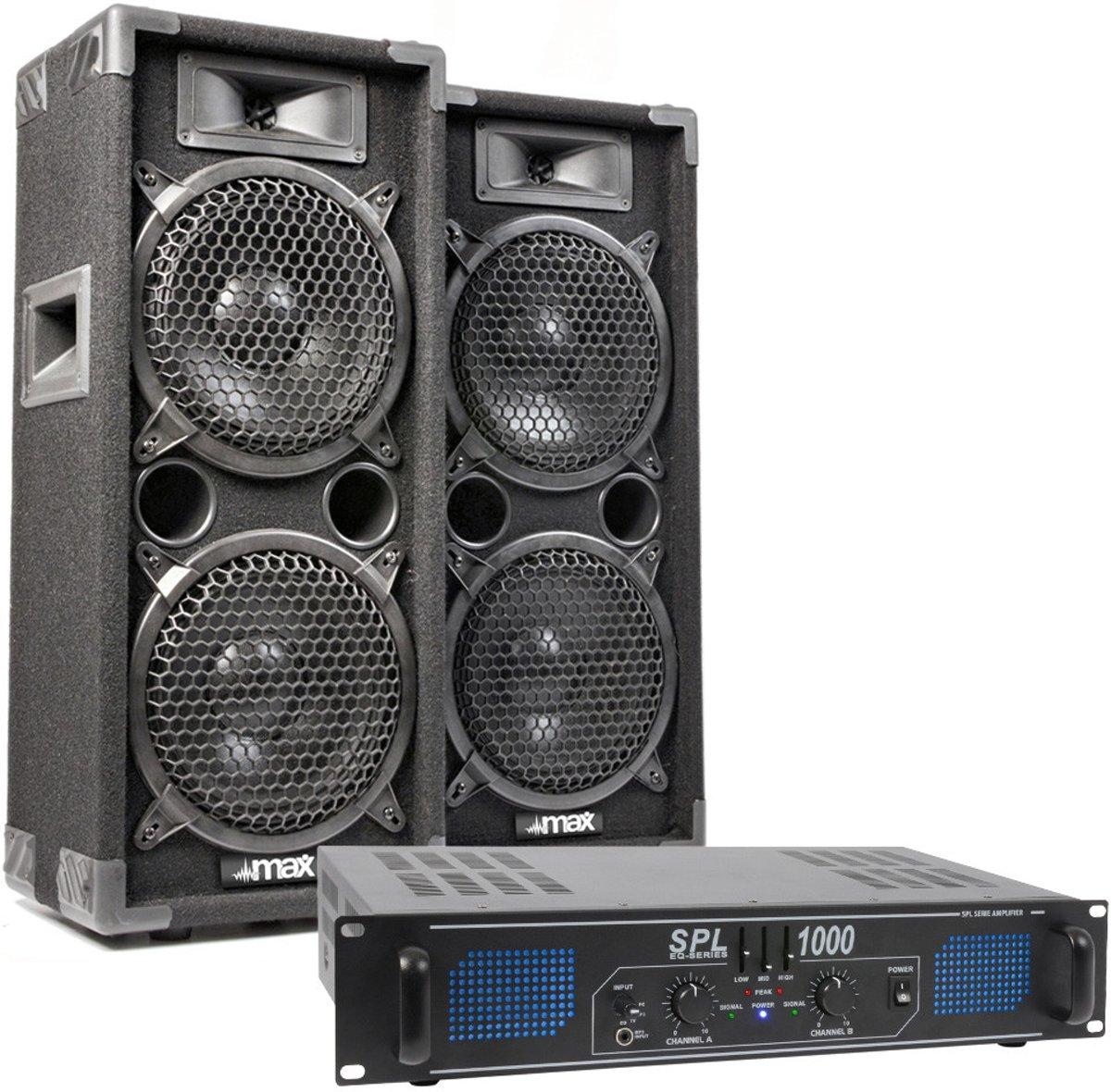 SkyTec MAX28 met SPL1000 versterker - 1000W complete installatie kopen