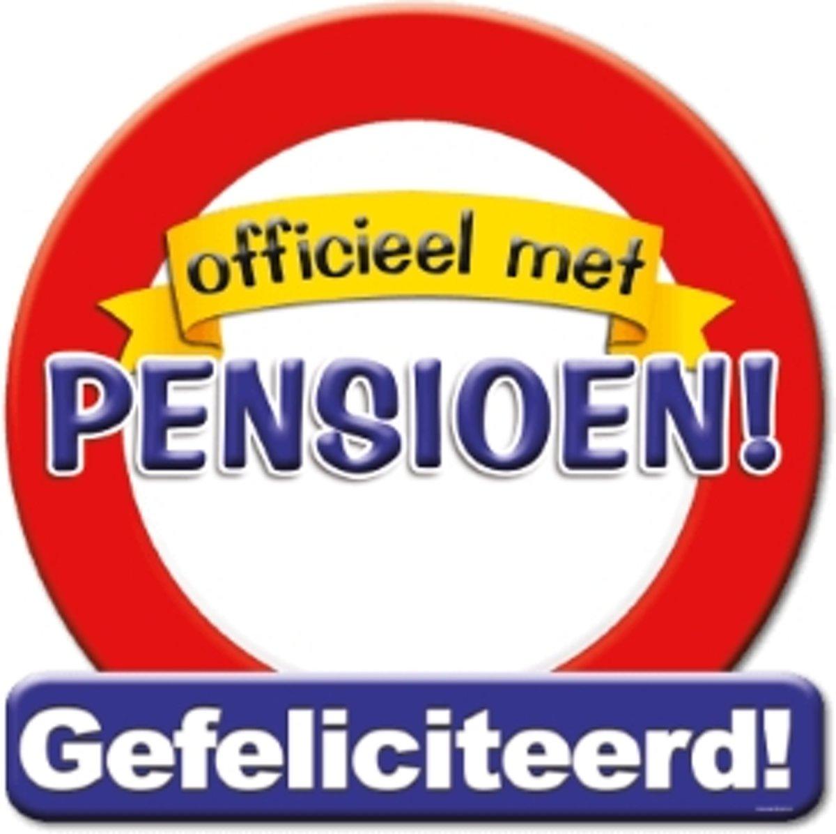 Huldeschild Verkeersbord -pensioen kopen