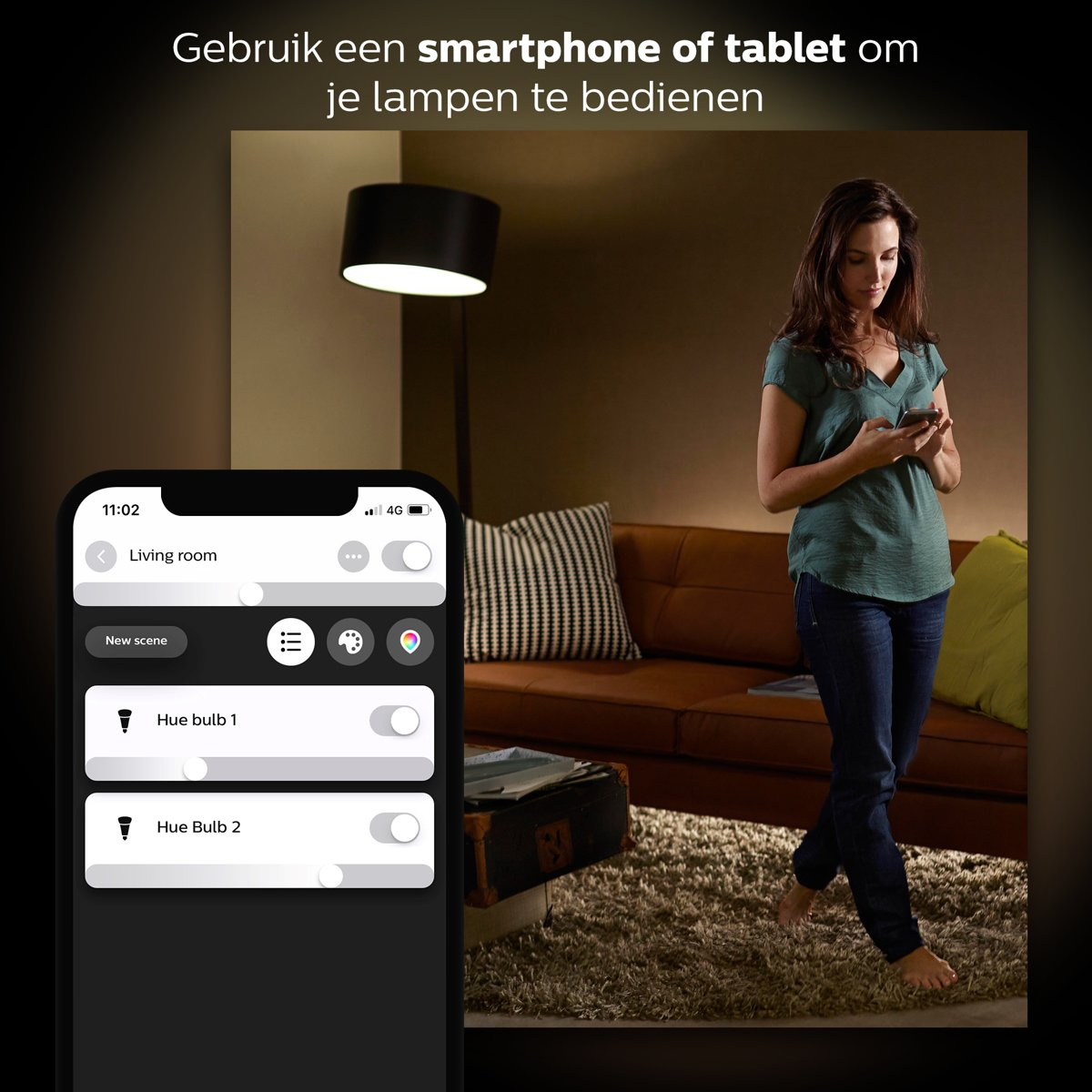 bol.com | Philips Hue White Starterkit - Incl Hue dimmer switch - E27