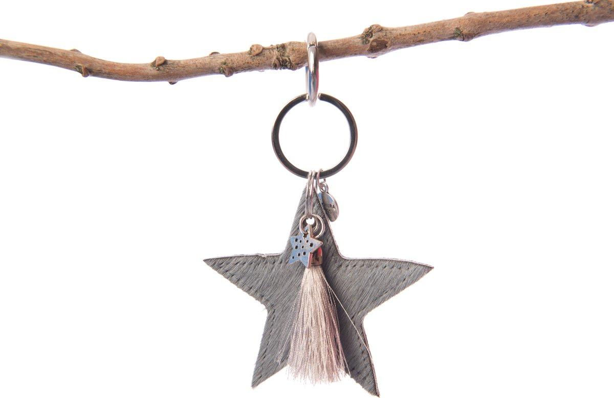Tassieraad western ster blauw met zilver kwastje kopen