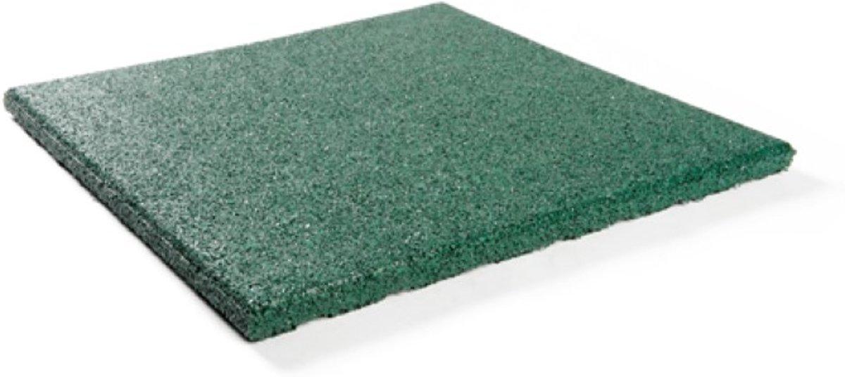 Rubber tegels 30 mm - 1 m² (4 tegels van 50 x 50 cm) - Groen kopen