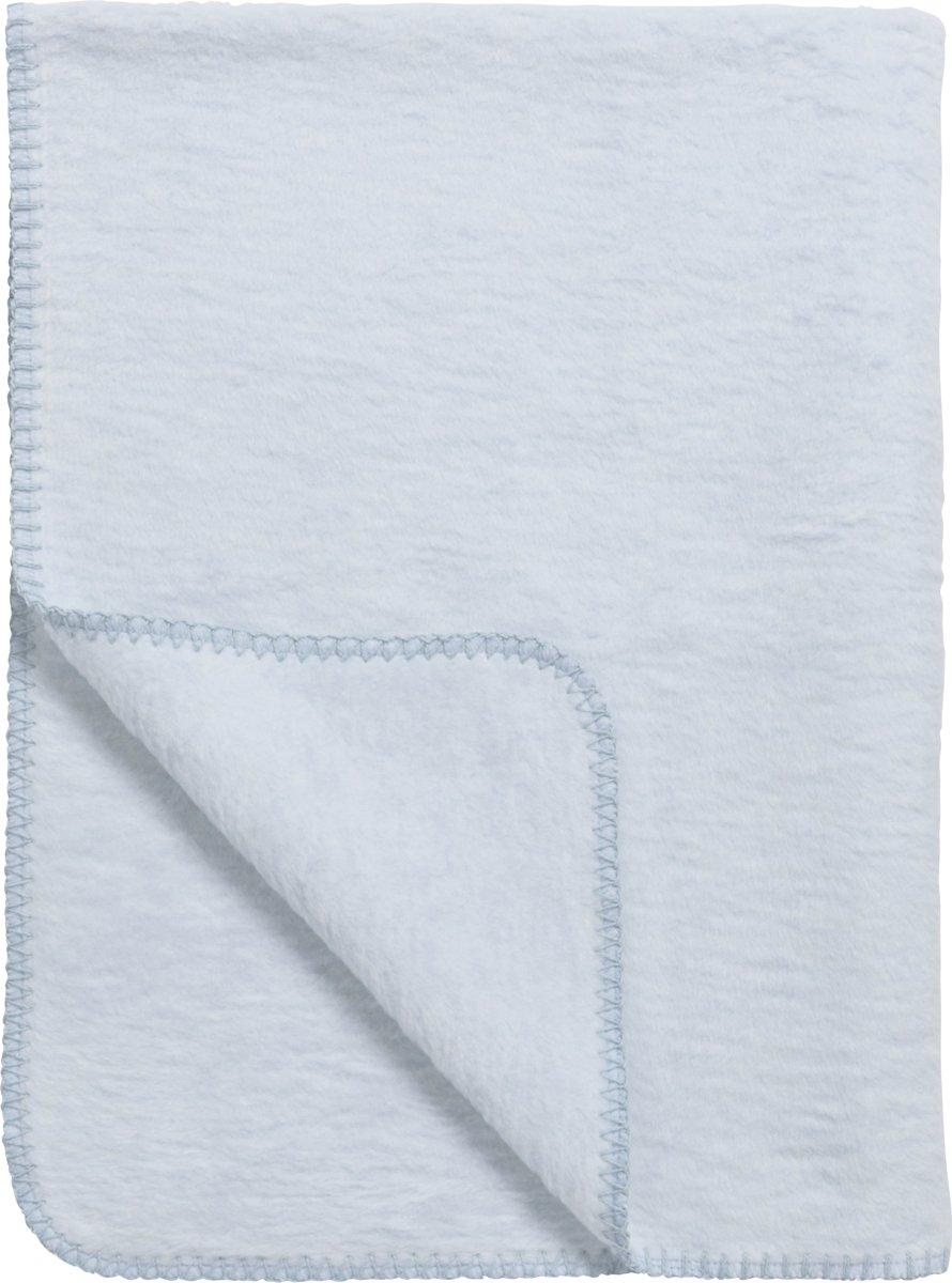 Meyco basic uni wiegdeken - 75x100 cm - lichtblauw