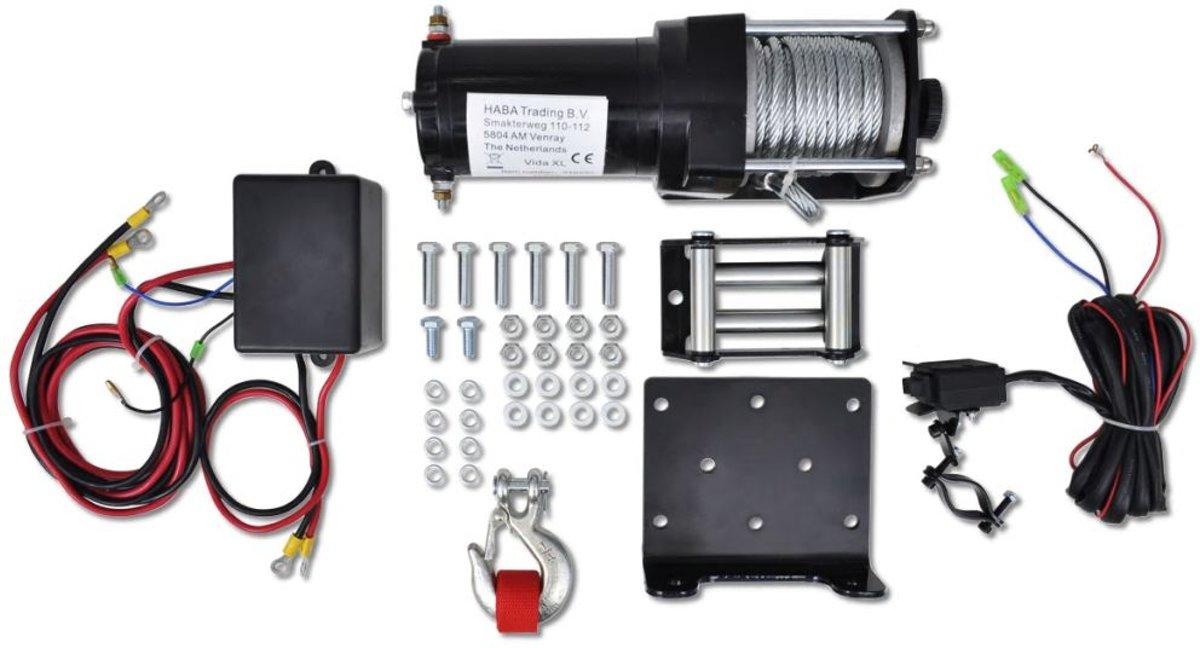 Elektrische lier 12V 1360 KG met afstandsbediening