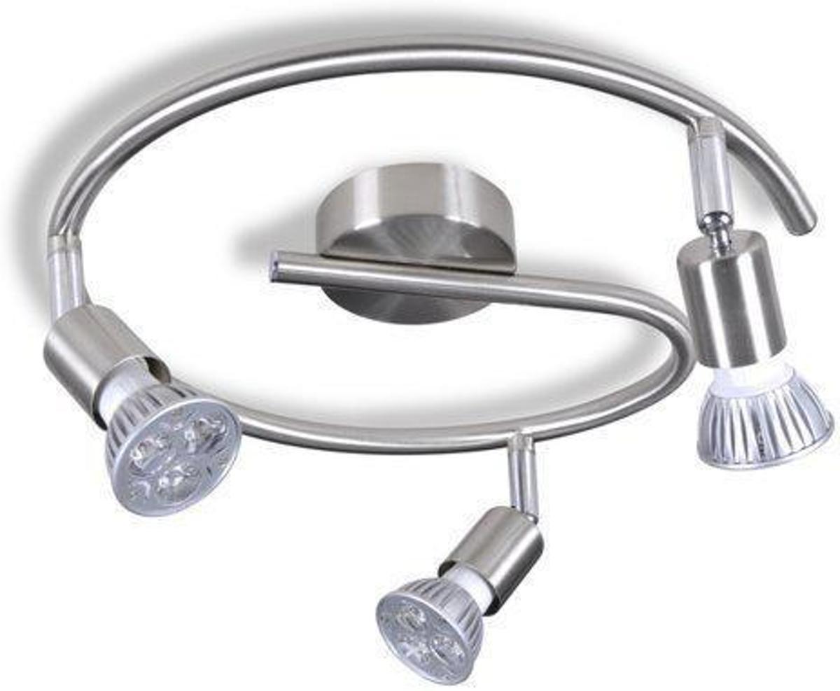 Plafoniere Led Garage : Bol vidaxl plafoniere plafondlamp led spots nikkel
