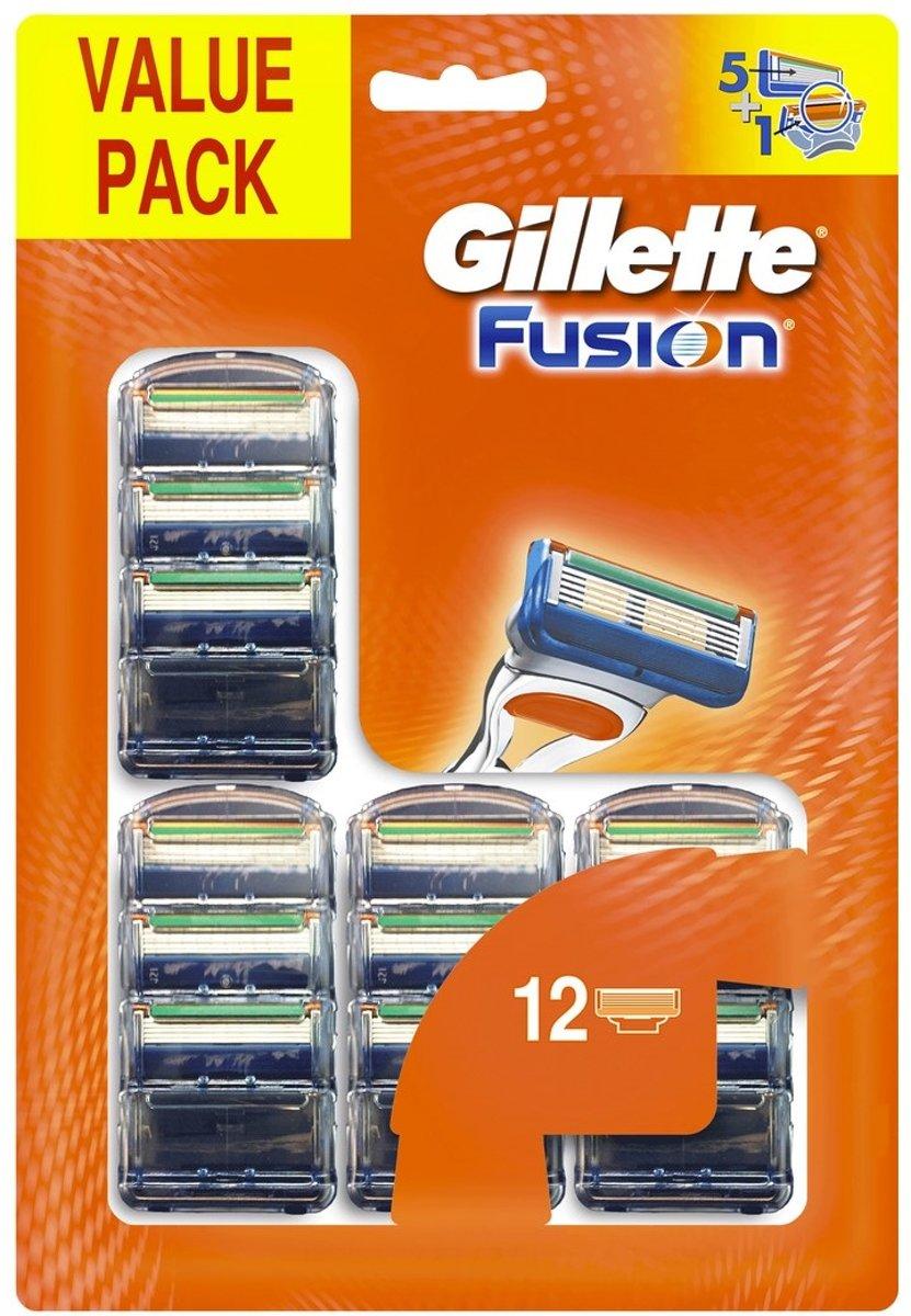 Gillette Fusion - 12 stuks - Scheermesjes voor €28,99