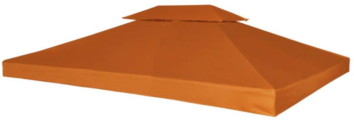 vidaXL Vervangend tentdoek prieel 310 g/m² 3x4 m terracotta kopen