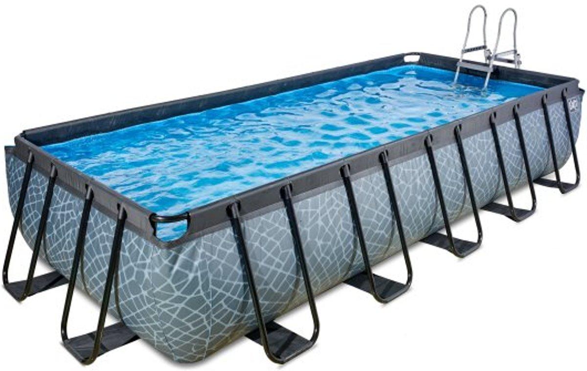 EXIT zwembad Stone 540x250cm met filterpomp - grijs