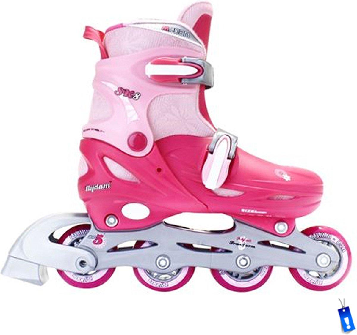 6361b4774de bol.com | Inline Skates Rolschaatsen Quads - 3 in 1 - Meisjes Verstelbaar -  Roze - maat 27-30,.