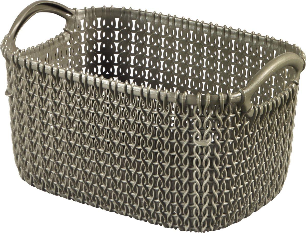 Curver Knit Mandje - Rechthoekig - XS - 3 l - bruin kopen