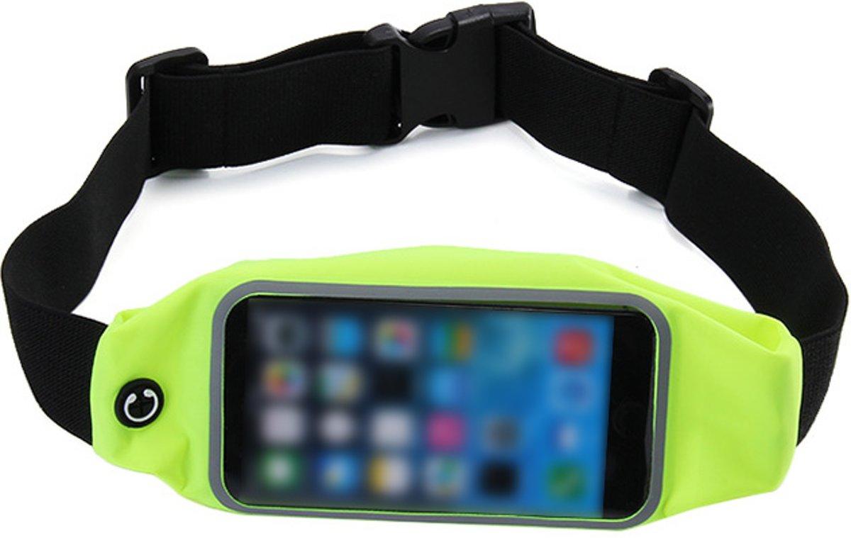 Sport Heupband - Hardloopband - Sportband - Hardloop Riem Met Smartphone Houder - Groen kopen