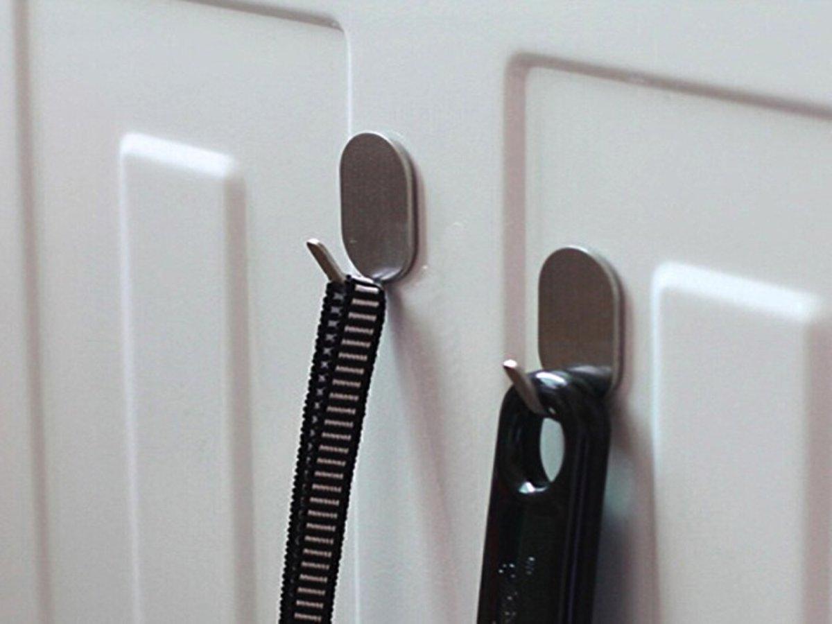 Handdoek Ophangen Keuken : Bol.com zelfklevende ophanghaakjes rvs 6 stuks