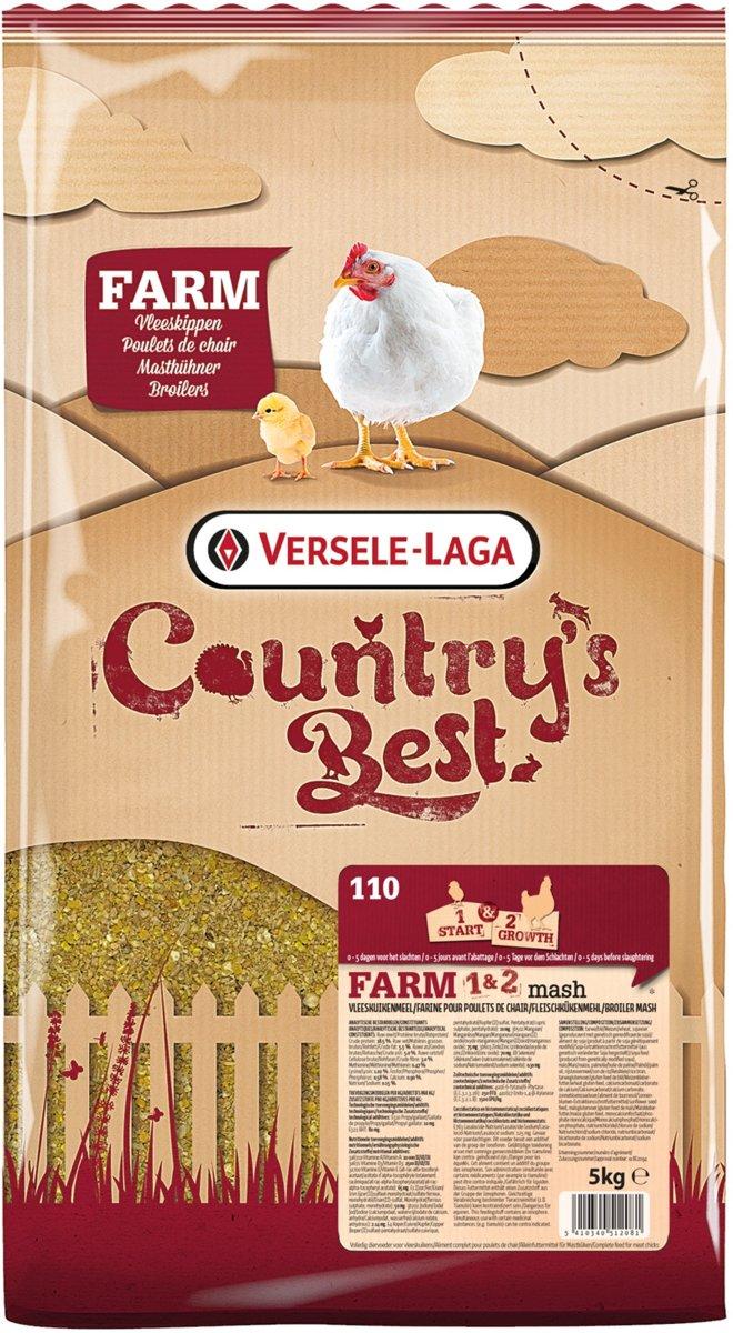 Versele-Laga Country`s Best Farm 1&2 Mash Groeikorrel Vlees Kip 5 kg Van 0 Weken
