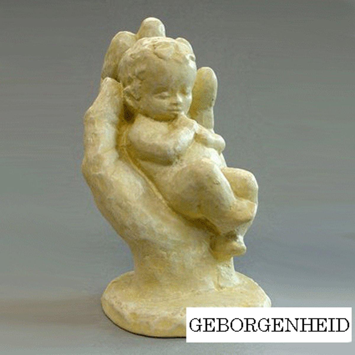 Parastone beeldje baby in hand - Geborgenheid - ivoor - 1226.50 - 5 cm hoog