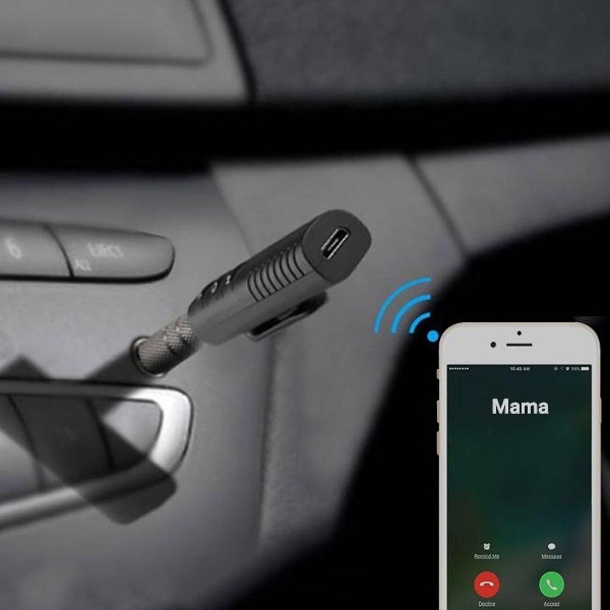 Bluetooth receiver aux 3.5 mm jack, carkit voor handsfree bellen kopen