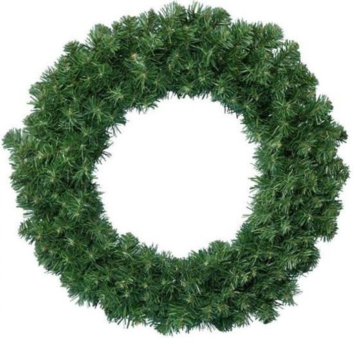 6x Dakota krans groen - Diameter 60 cm - Dikte 25 cm - Kerst krans - Royal Christmas kopen