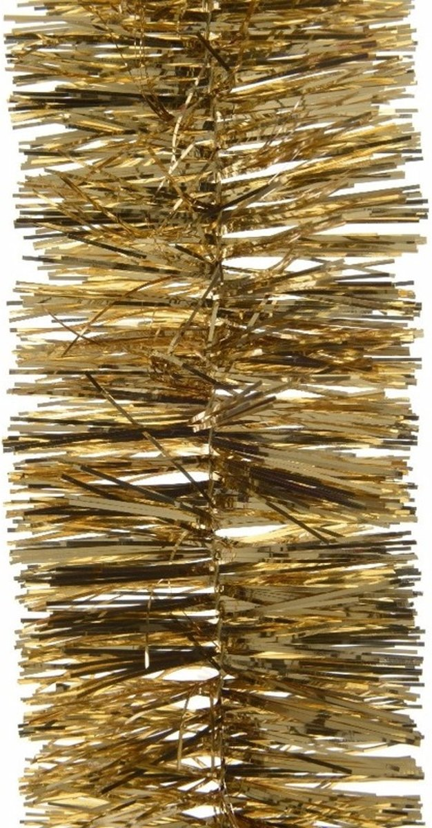 2x Kerstboom folie slinger goud 270 cm - gouden kerstslingers kopen