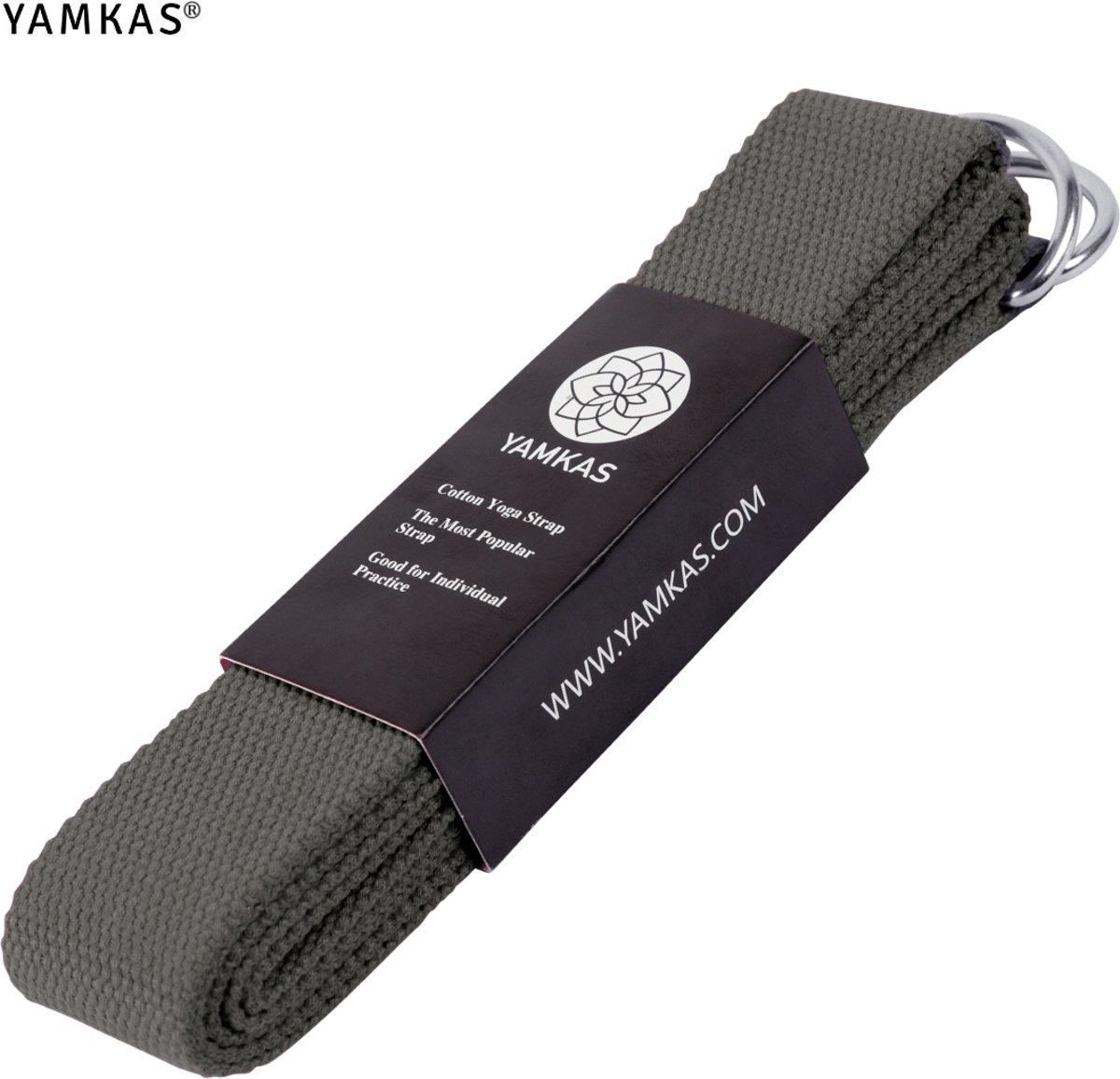 Yamkas Yoga Strap Donker Grijs 183cm - 100% Katoen
