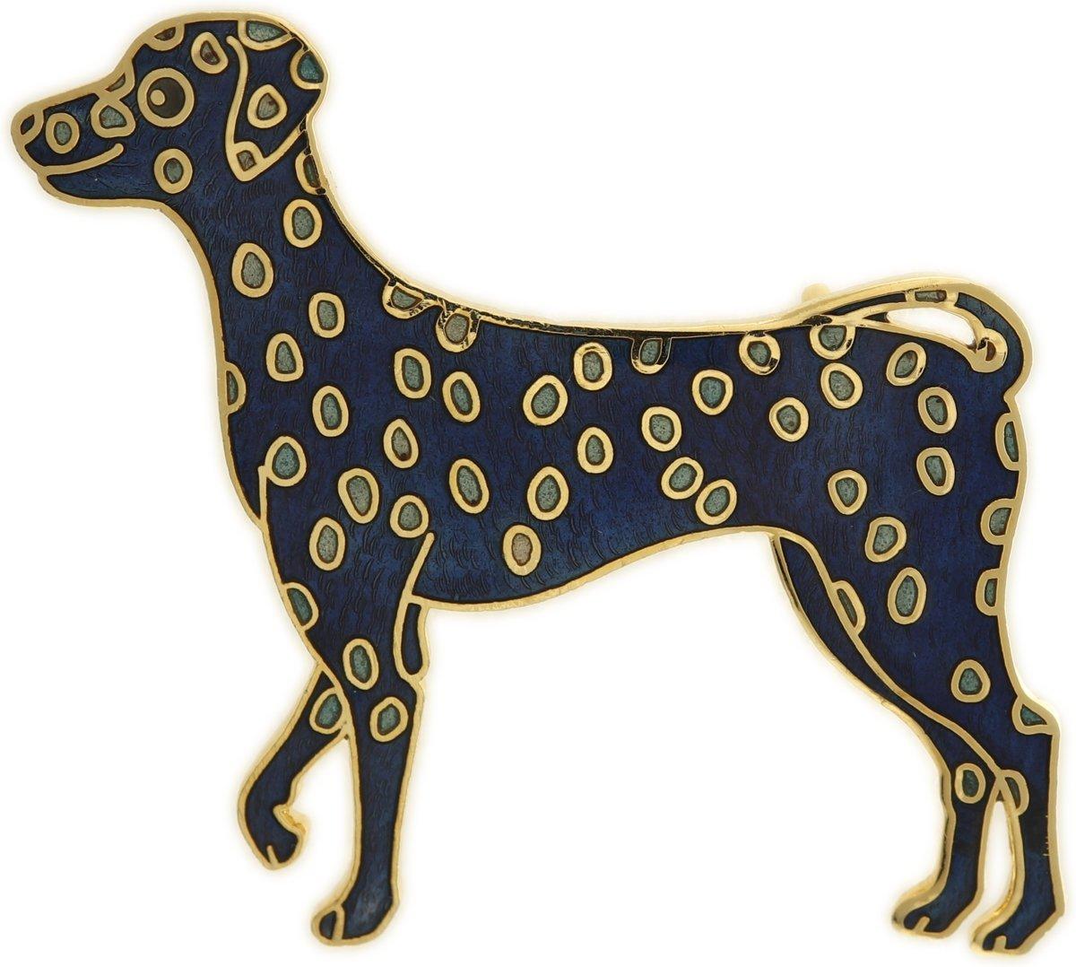 Behave® Broche hond dalmatiër blauw emaille kopen