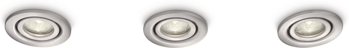 Philips Hammam recessed nickel 3x20W 12V kopen