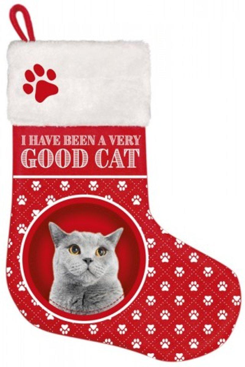 Kerst stocking Kat Grijs kopen