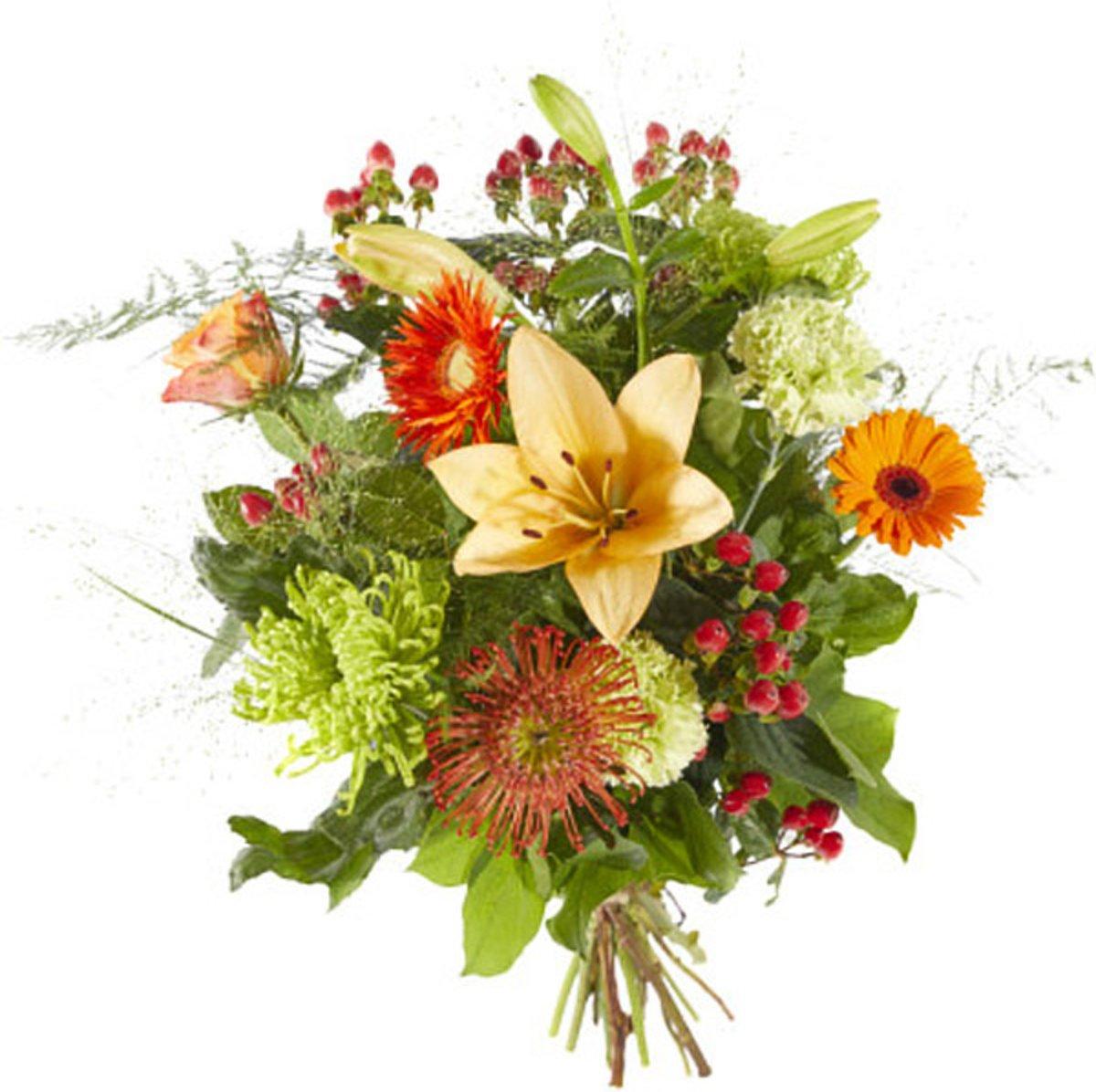 Boeket Gemengde oranje bloemen kopen