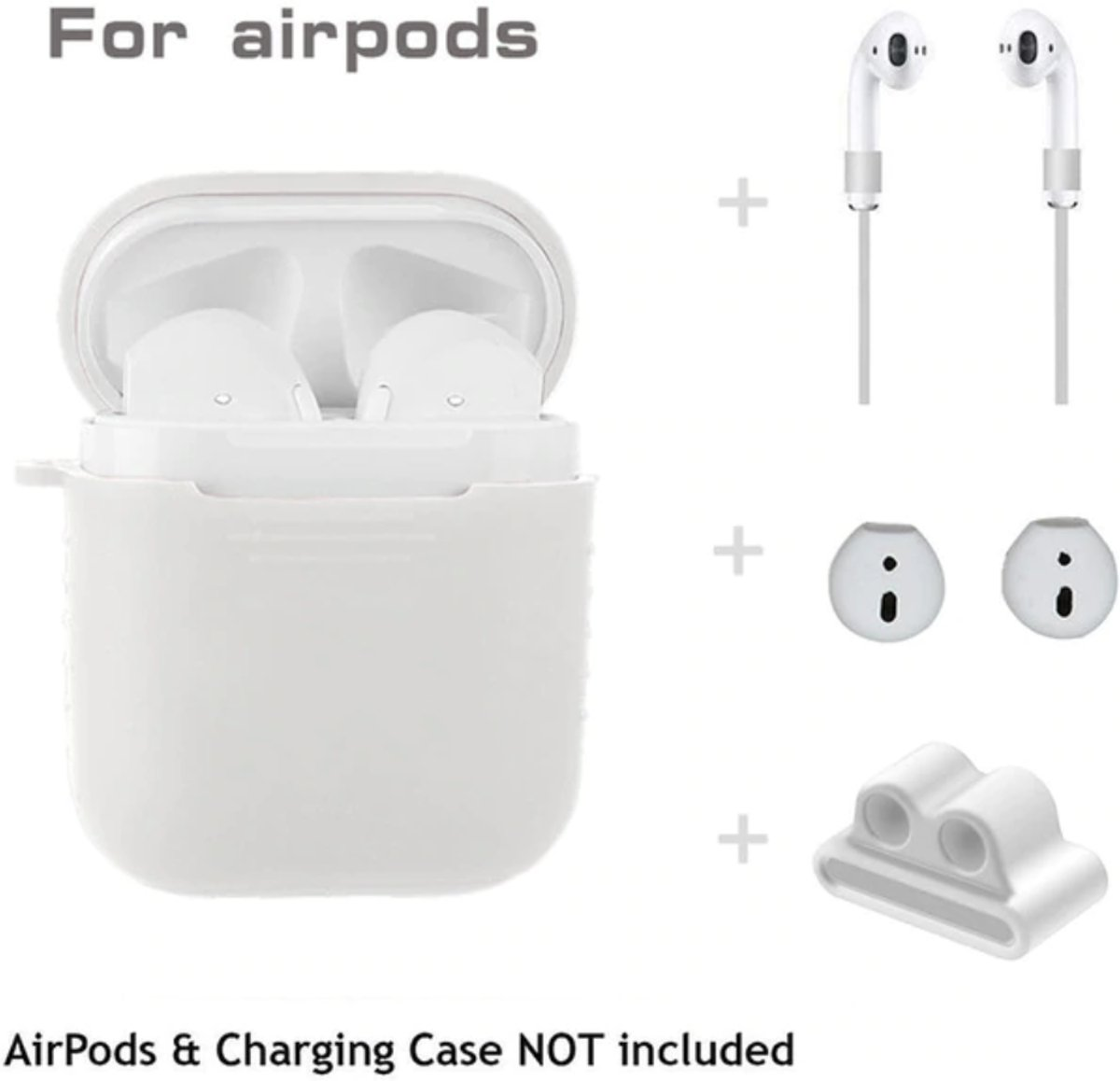 Airpod Case 5 in 1, geschikt voor airpod, airpod hoesje, airpod cover 5 in 1 kopen