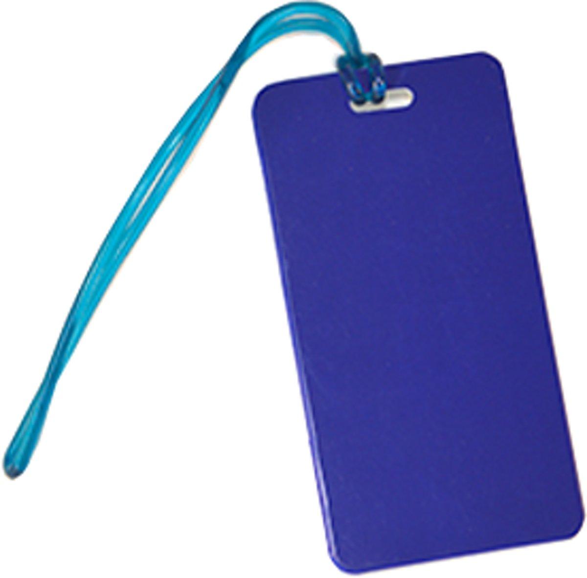Kofferlabel / bagagelabel Blauw met QR-code kopen
