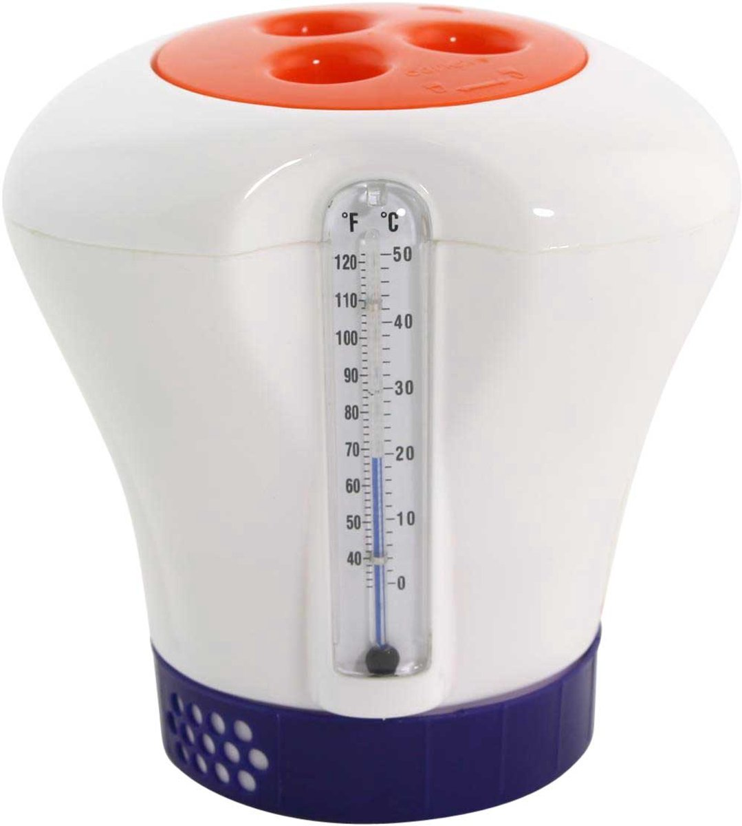 Regelbare chloordispenser met thermometer