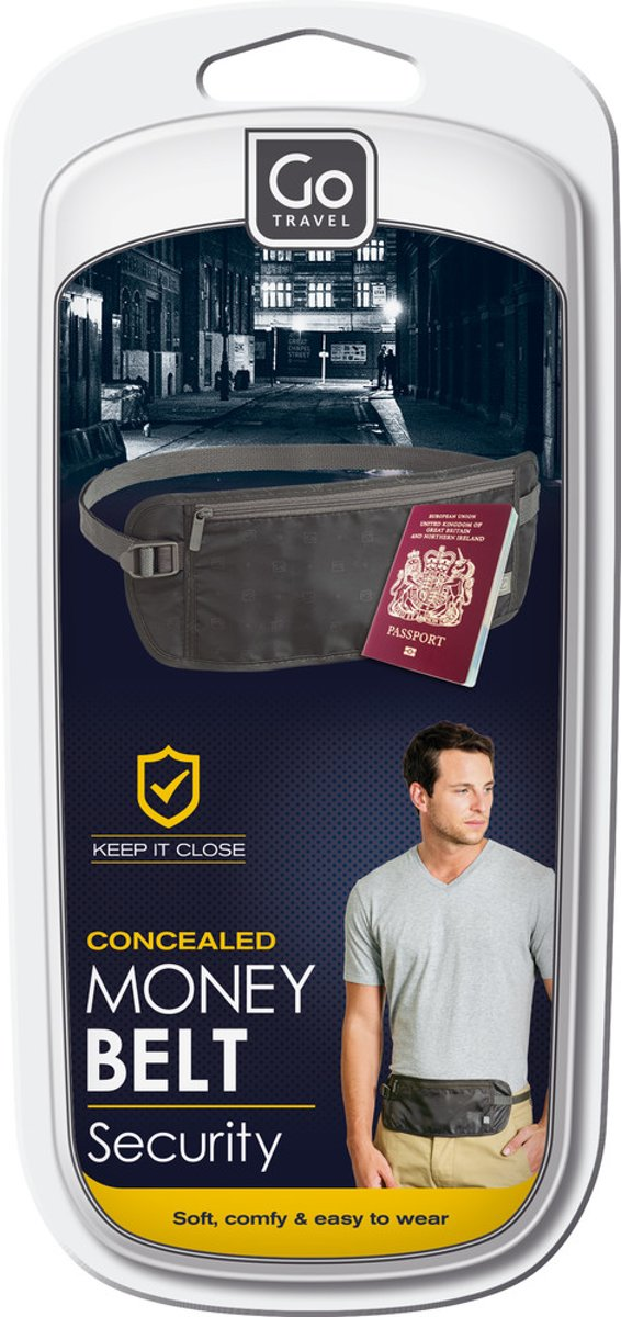 Go Travel - Geldgordel - Money belt - Antraciet kopen