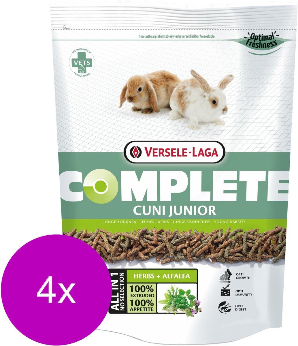 Versele-Laga Complete Cuni Junior - Konijnenvoer - 4 x 500 g