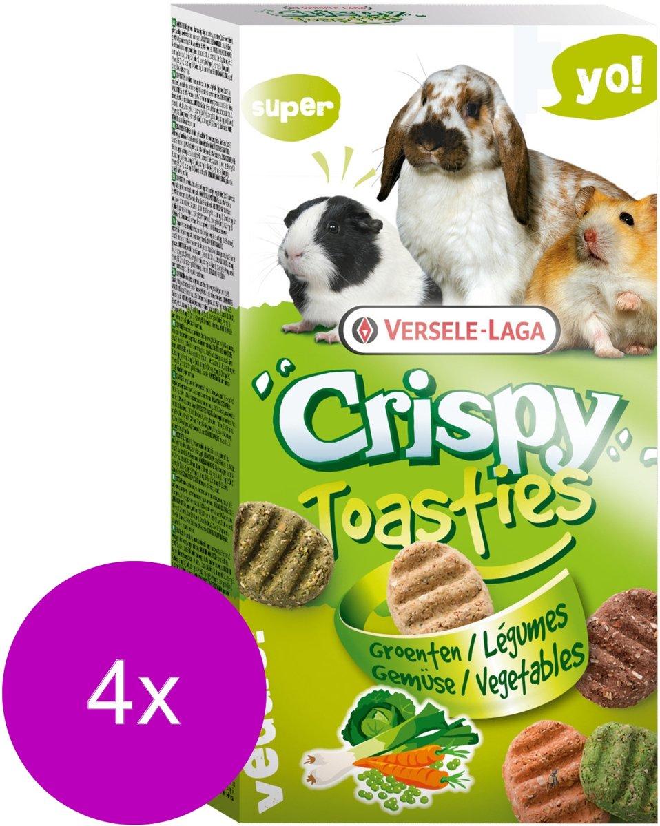 Versele-Laga Crispy Toasties Vegetables - Knaagdiersnack - 4 x Groente 150 g