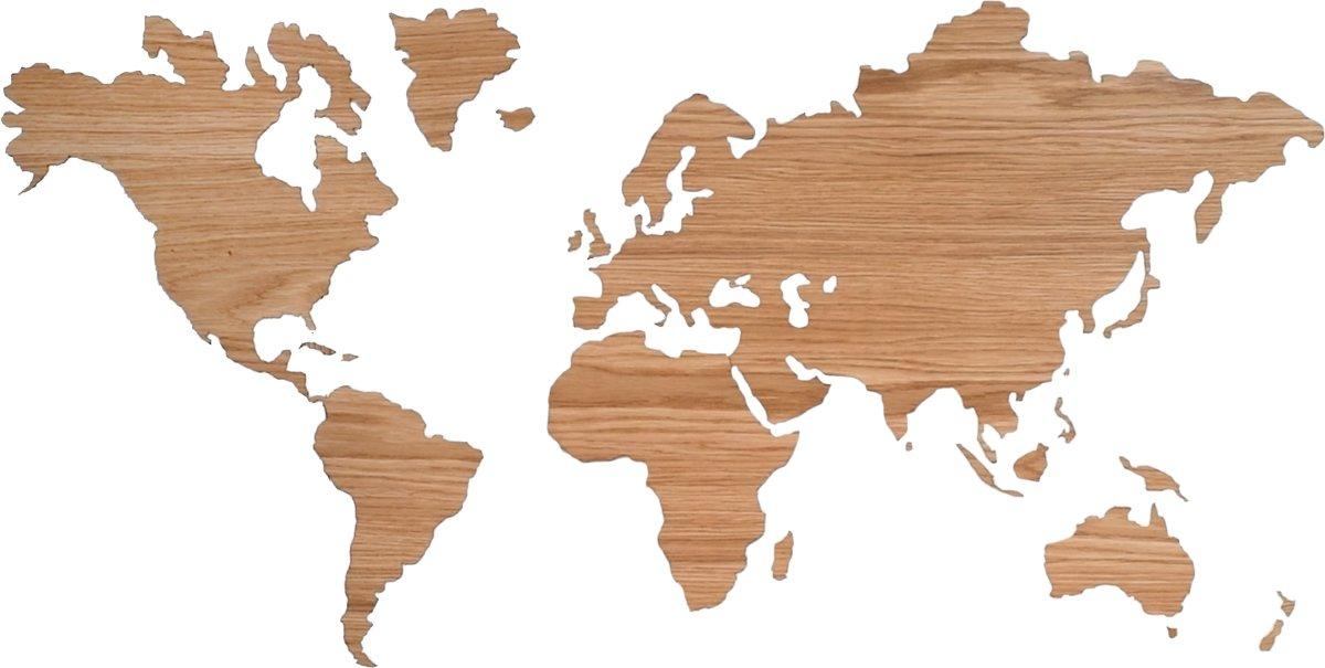 Sticky World map Eikenhout kopen