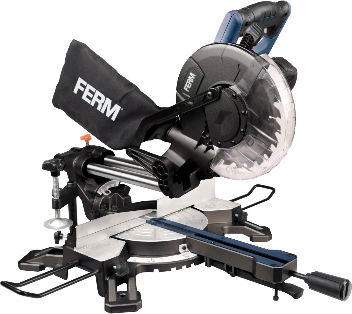 FERM Radiaal afkortzaag 1500W, Ø210mm - kantelbaar, lasergeleiding
