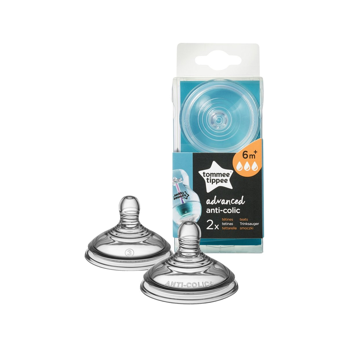 Tommee Tippee - Closer to Nature Anti Colic Flesspeen - Fast Flow