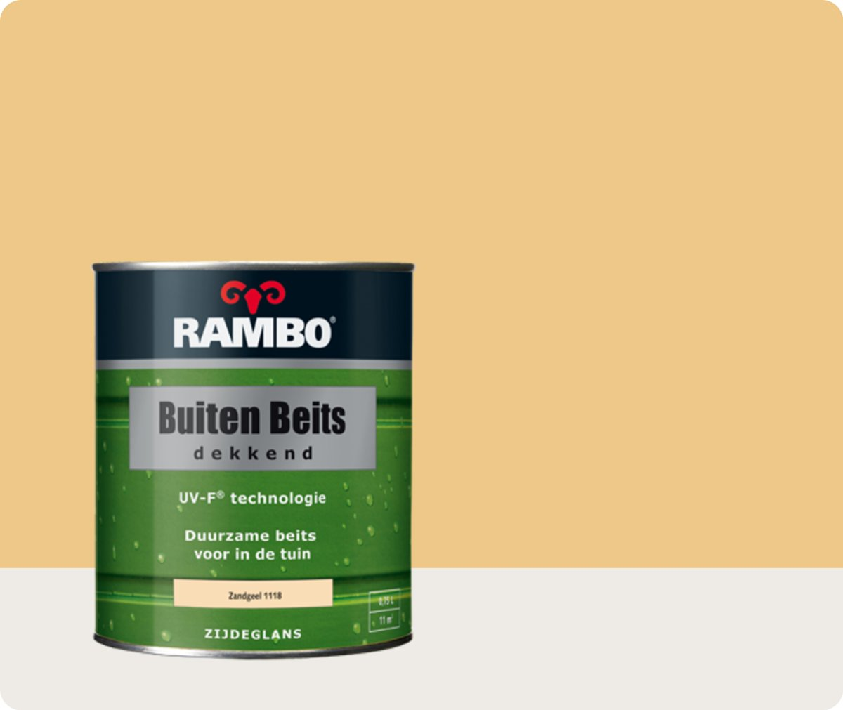 Rambo Buiten Beits Dekkend - 0,75 liter - Zandgeel