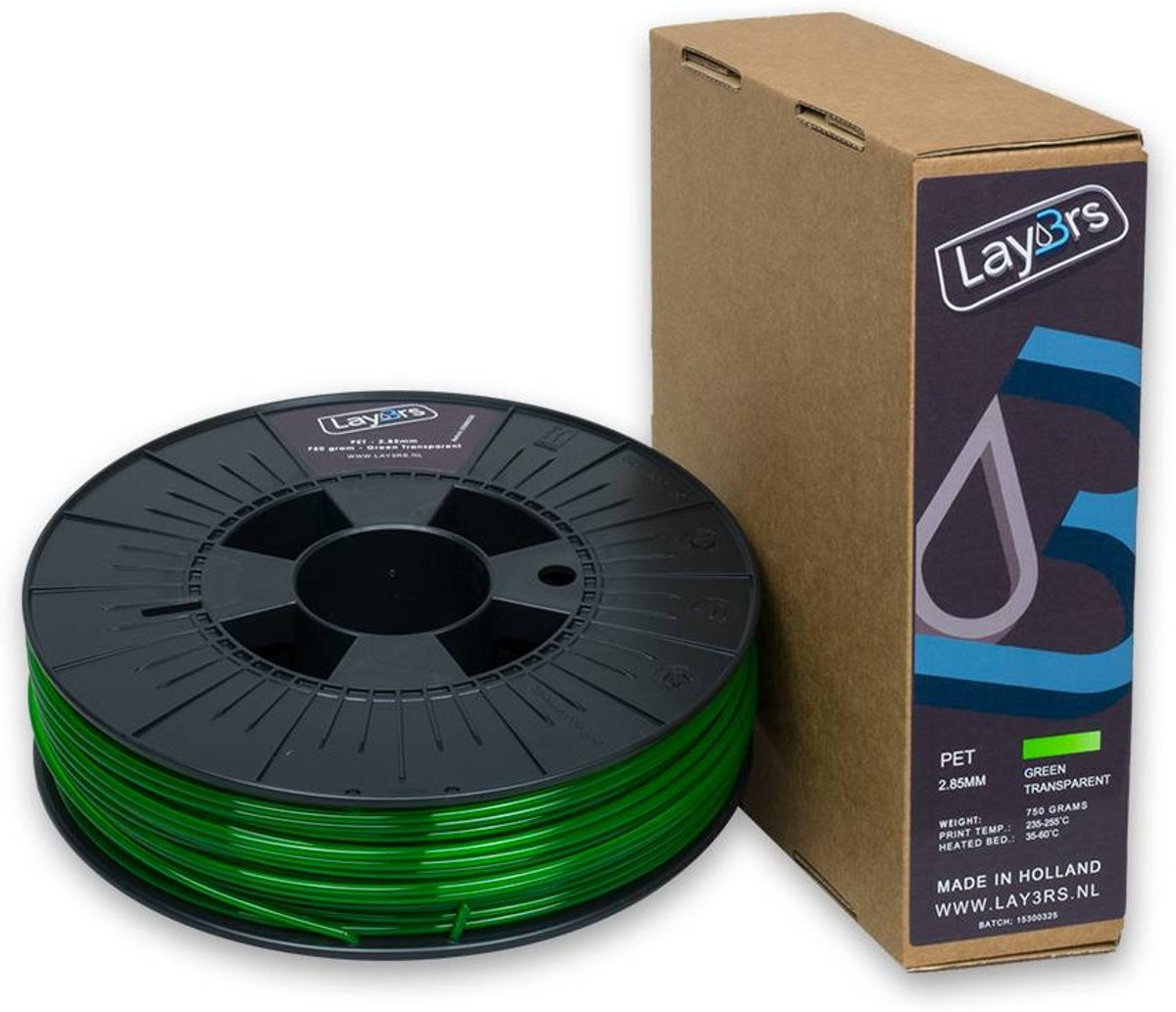 Lay3rs PET-G Green Transparent - 2.85 mm