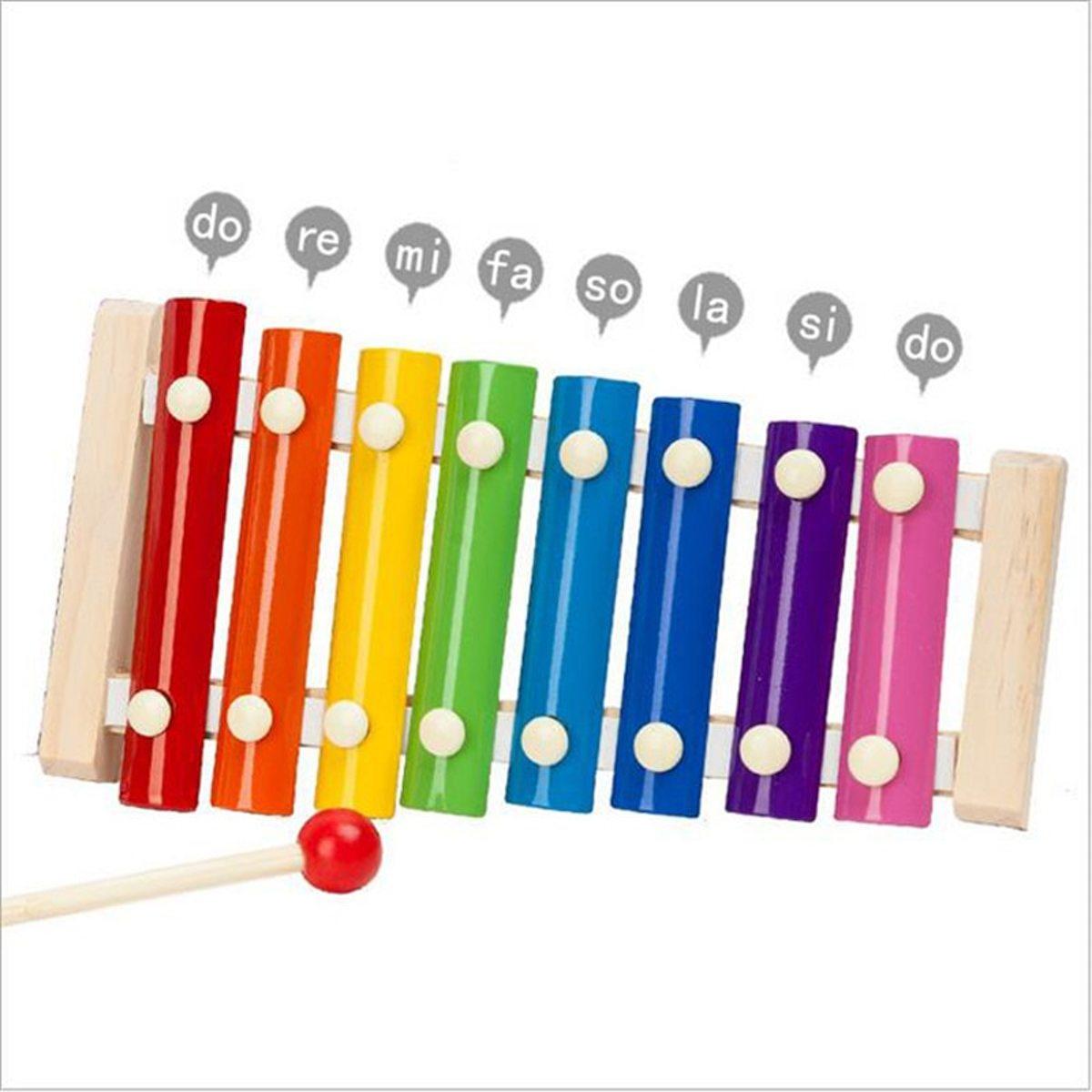 Afbeelding van product WiseGoods - Kleurrijke Xylofoon Voor Kinderen - Educatieve Xylofoon Voor Baby's - Muziek Maken