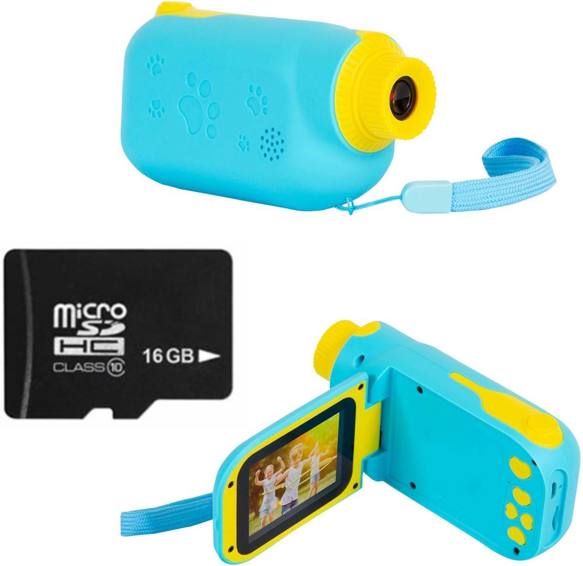 Silvergear Kinder Filmcamera Blauw Inclusief 16GB Micro SD Kaart