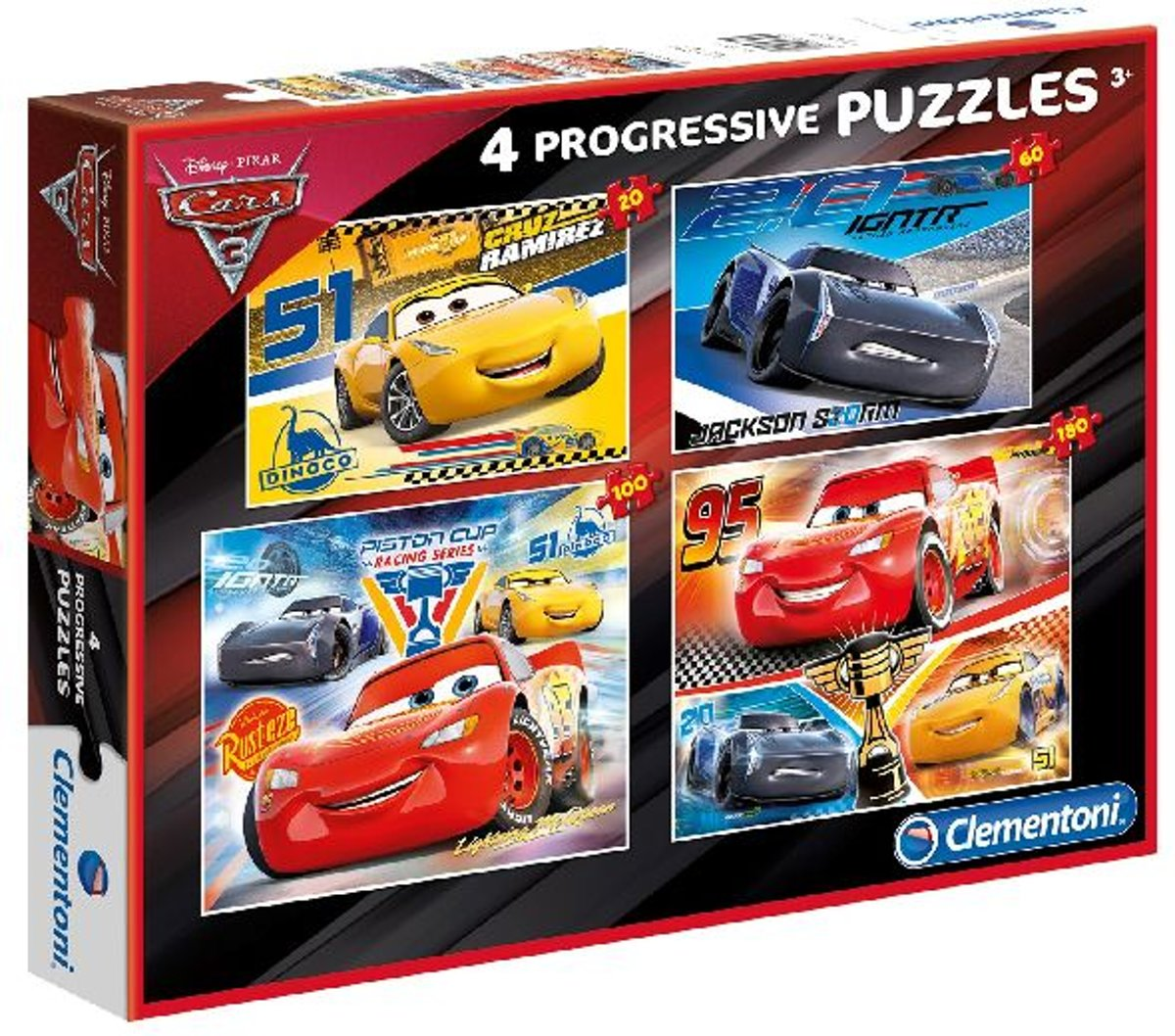 Cars Puzzel 20-60-100-180