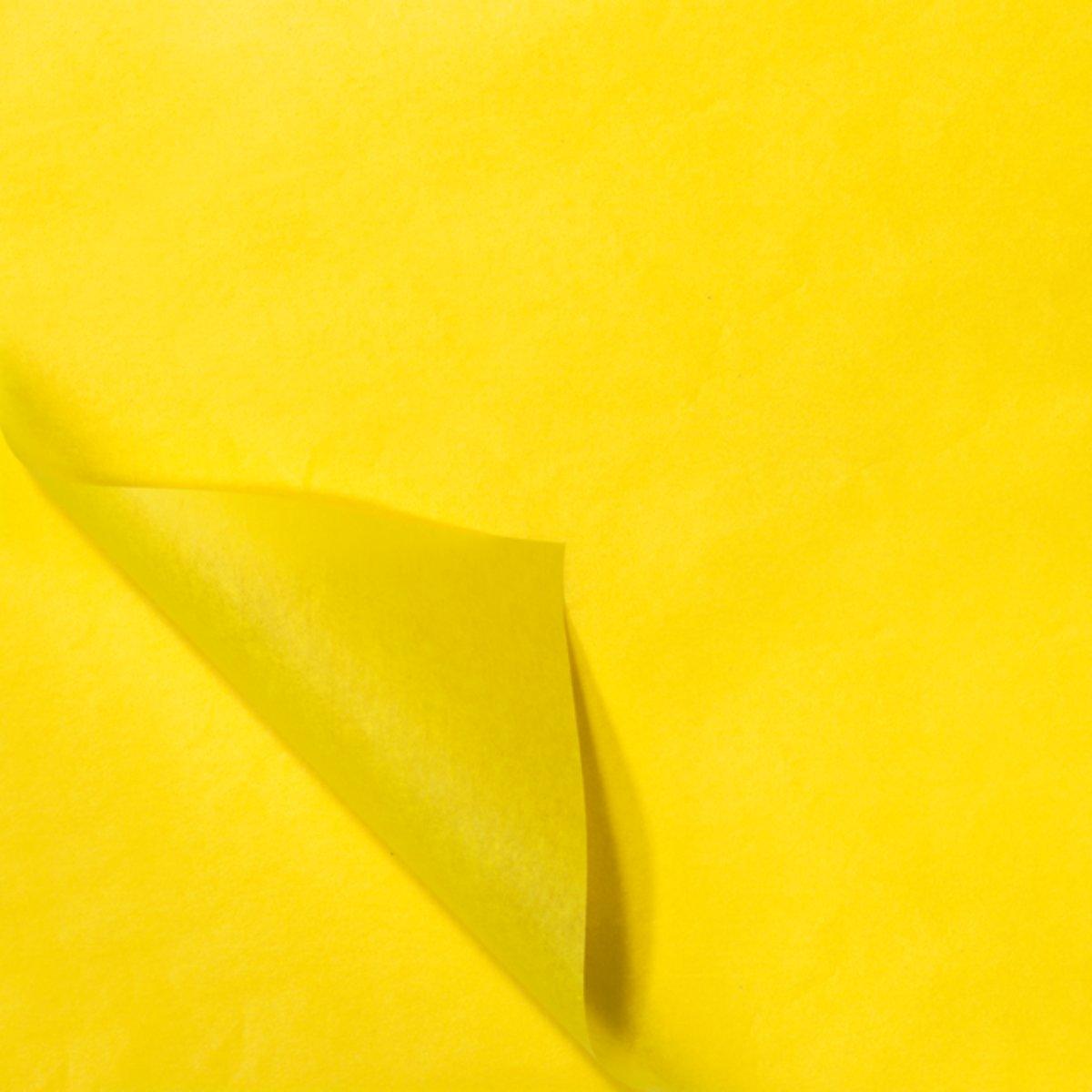 30654cd5d58 bol.com | zijdevloei papier 50 x 70 cm 100 vel geel | Speelgoed