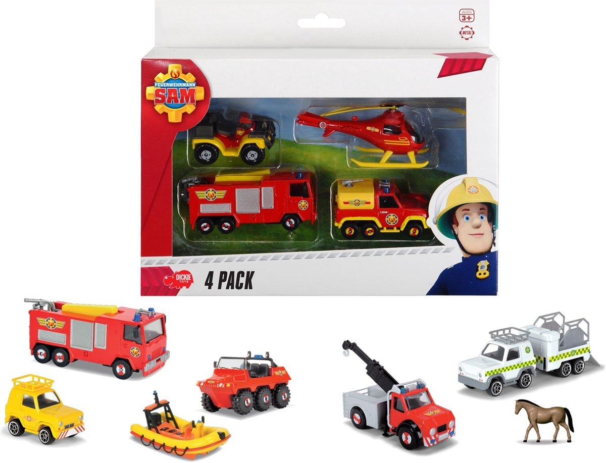 Brandweerman Sam Voertuigenset, 4st.