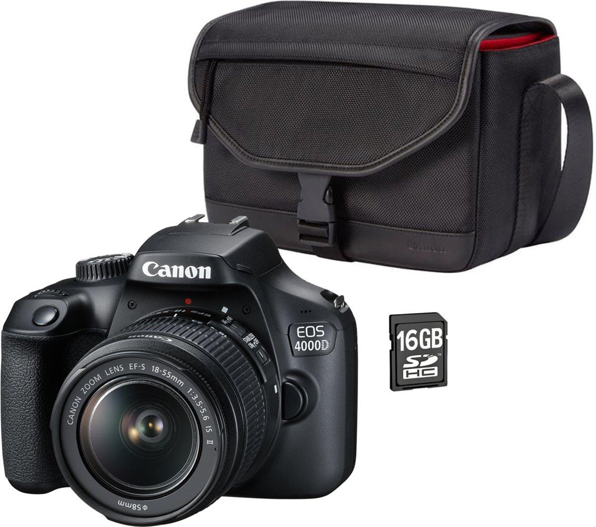 CANON EOS 4000D + 18-55mm + 16 GB + draagtas kopen