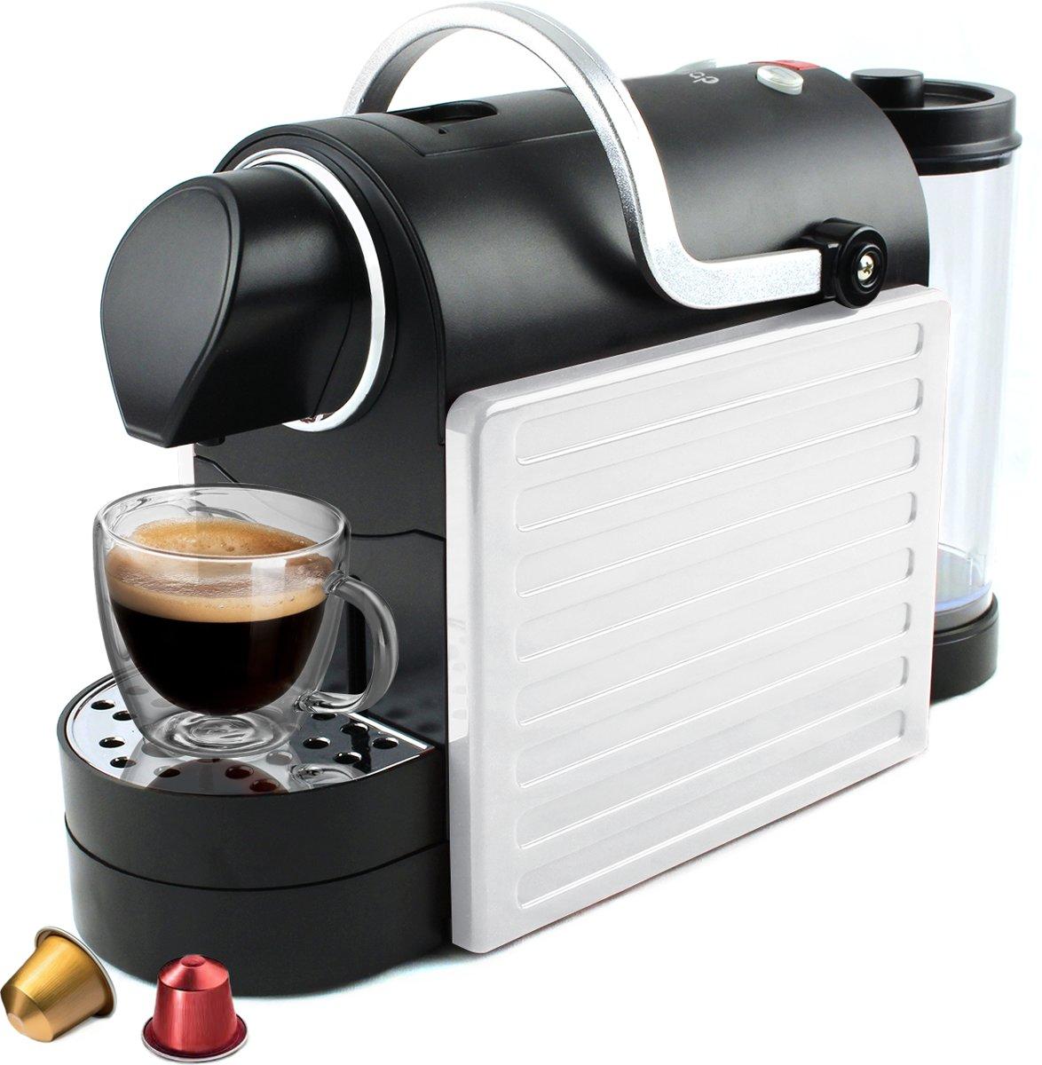 JAP Appliances CM04JH - Koffiecupmachine - Koffieapparaat voor alle Nespresso en vergelijkbare cups - Espresso en Lungo - Wit kopen