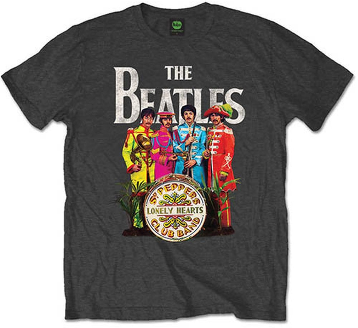 Afbeelding van product The Beatles Sgt Pepper Charcoal Mens TS: Large  - maat L