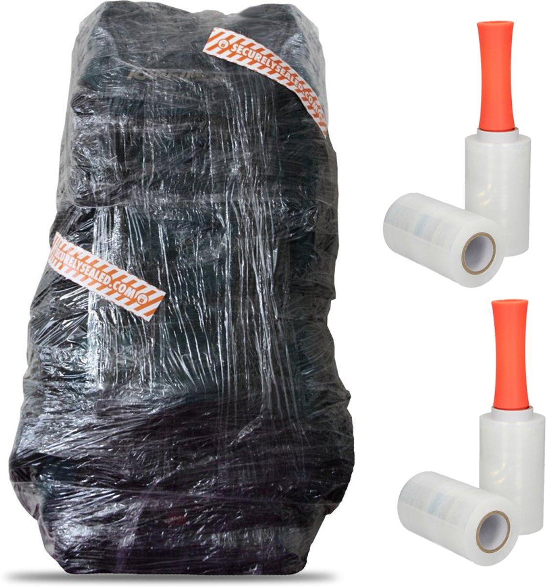 600 Meter Koffersealer op 4 Rollen – 4x150mx12,5cm | Handwikkelfolie | Folie voor Sealen Reisbagage kopen