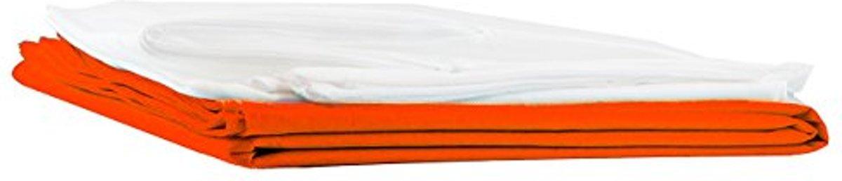 Lumaland - Hoes van luxe XXL zitzak - enkel de hoes zonder vulling - Volume 380 liter - 140 x 180 cm - gemaakt van PVC / Polyester - Oranje kopen