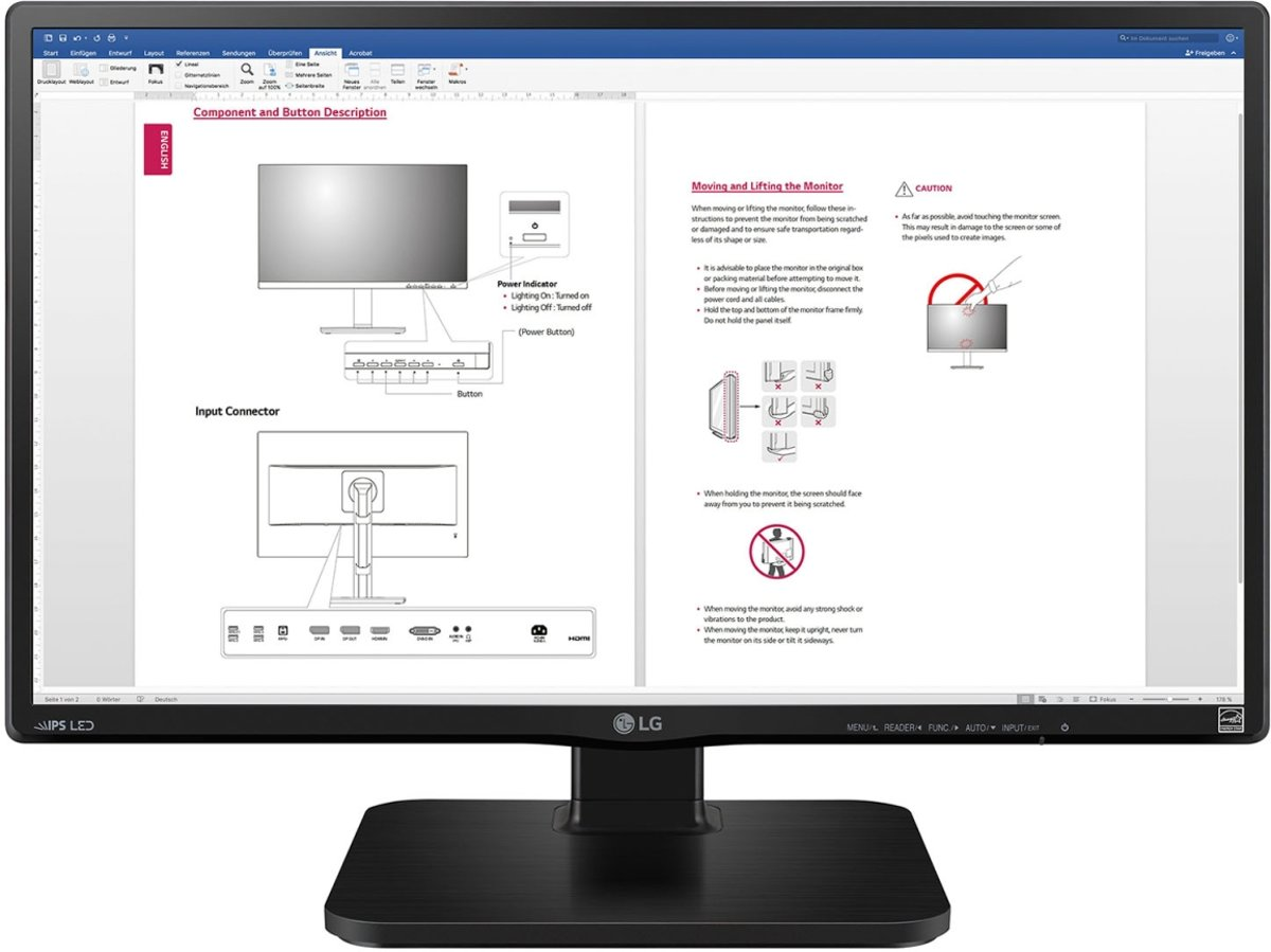 LG 24BK450H 23.8'' Full HD LCD Zwart computer monitor