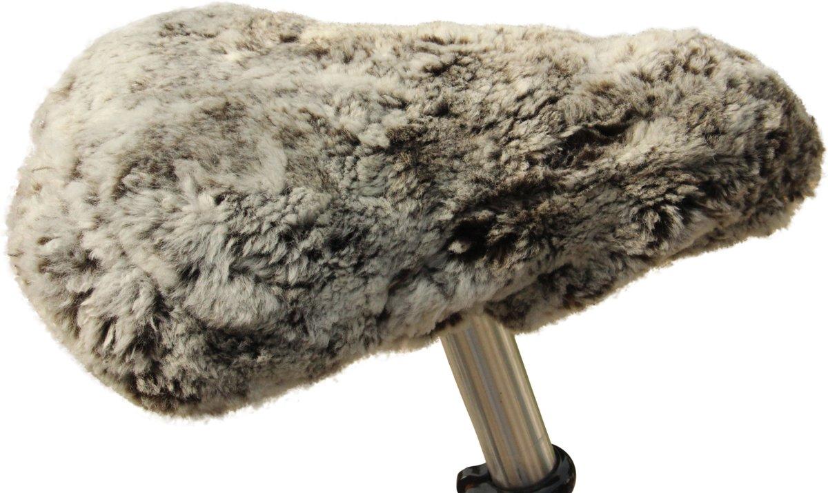 Fietszadel dekje schapenvacht Mink