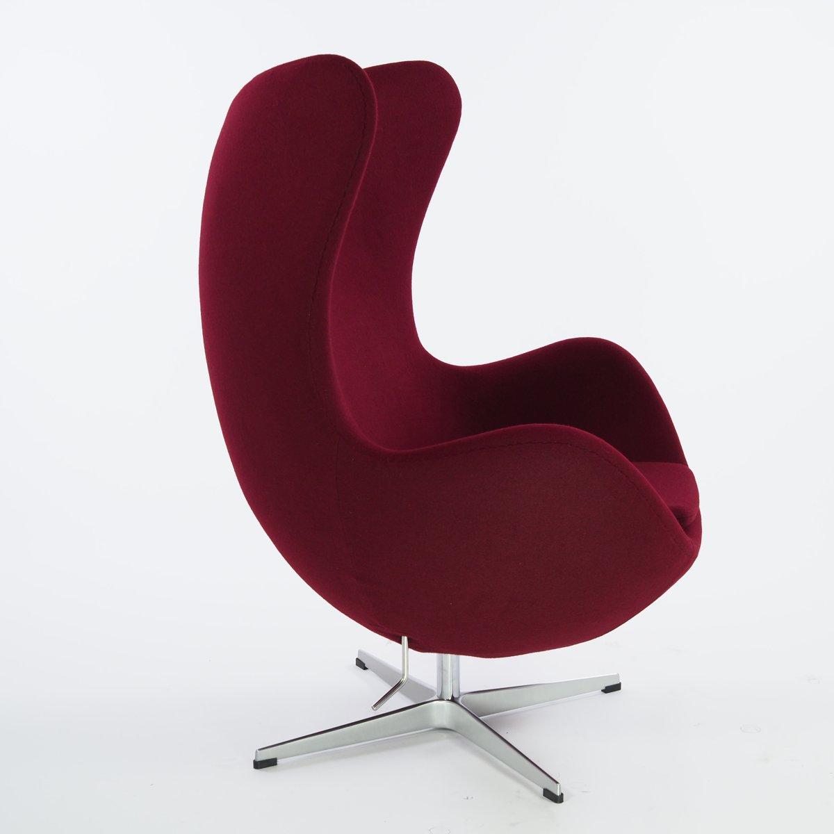 lounge stoel Egg Chair Kasjmier burgundy kopen